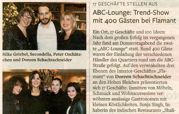 ABC-Lounge zugunsten des Flüchtlingsprojektes der Klinik-Clowns Hamburg